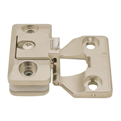 Hafele 344.89.730 Glass Door Hinge, Aximat, 230° Opening Angle, Glass to Wood, Inset