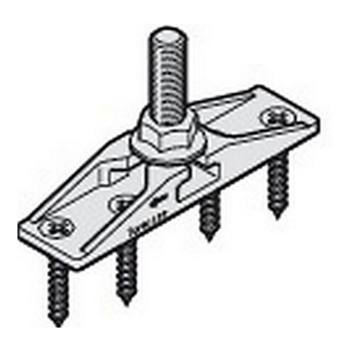 Hafele 940.80.022 Two-way Suspension Plate, MM10 Bolt and Mounting Screws