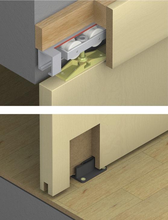 & Hafele 940.80.001 Sliding Door Hardware | HardwareShowroom.com