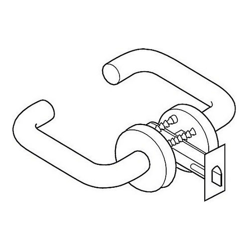 Hafele 911.70.399 Lever Handle with Tubular Privacy Latch