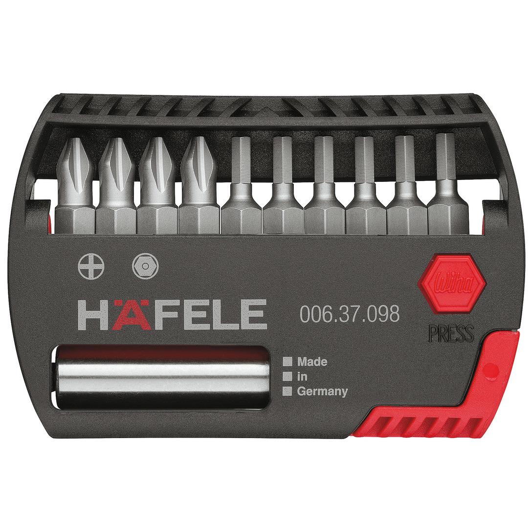 Hafele 006 37 098 Bit box, with 10 bits, PZ and TS T-star, Häfele