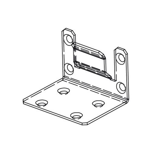 Hafele 942.72.080 Concealed End Bracket to Mount Header and Upper Track, Components for Slido Pocket Door
