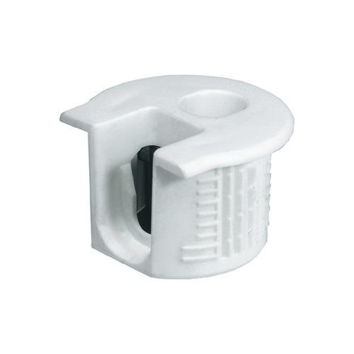 Hafele 263.14.705 Connector Housing, Rafix 20 System, without Dowel, with Ridge, Plastic