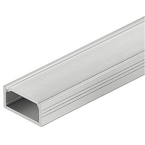 Hafele 833.72.860 Aluminum Profile for Surface Mounting, Shallow