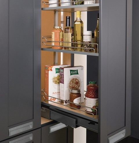 Hafele 546.62.911 Pull-Out Pantry Frame, Full Extension, 265 lbs. Weight Capacity