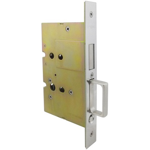 hafele sliding pocket door lock with edge pull for inactive door. Black Bedroom Furniture Sets. Home Design Ideas